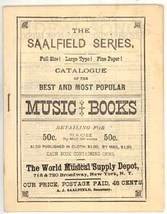 Saalfield Music Books catalog Victorian songs advertising antique vintage - $8.00