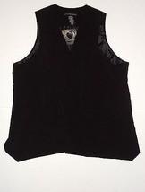 Apostrophe Misses Black Drapey Vest Size L **NEW W/TAGS** - $19.78