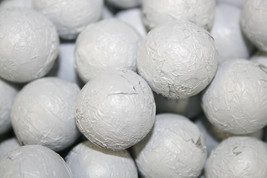 MILK CHOCOLATE BALLS WHITE FOILED, 1LB - $15.85