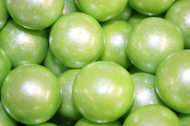 Gumballs Shimmer Lime Green 25mm Or 1 Inch (285 Count), 5 Lbs - $27.50