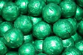 MILK CHOCOLATE BALLS GREEN FOILED, 1LB - $15.85