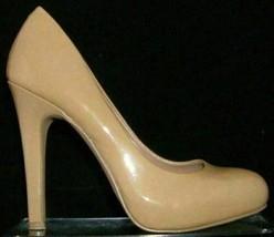 Jessica Simpson Aeriana beige patent leather almond toe platform heels 7B - $31.09