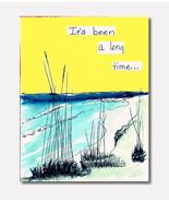 Handmade Watercolor Card Dating Romance Greetin... - $4.25
