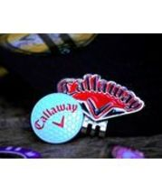 Callaway Red and Black Fan Ball Marker and Hat Clip - Sale Price - $7.95