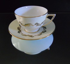 Minton Bone China Cup and Saucer Gold Laurentian Pattern H 5184 - $19.50