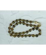 Vintage Czechoslovakian  Necklace Glass Tiger Stripe Glass Beads Costume... - $9.99
