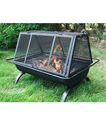 Portable Outdoor Backyard Patio Fire Pits Firepits Grill Barbeque Barbec... - £120.78 GBP