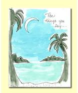 Handmade Watercolor Card Romance Dating Greetin... - $4.25