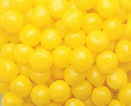 Yellow Lemon Fruit Sours Chewy Candy Balls 1LB Bag - $6.98
