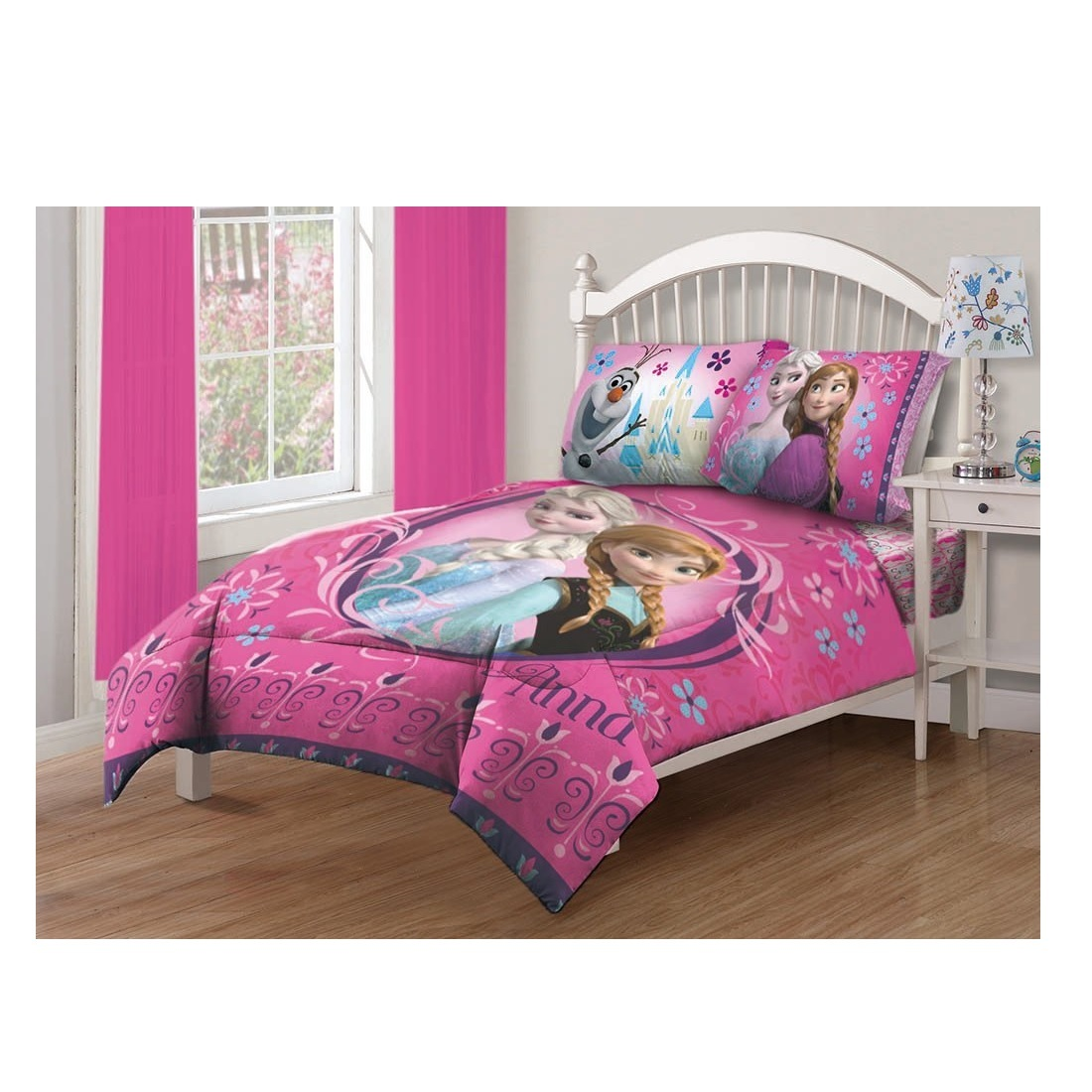 Frozen comforter set twin girls bedding floral sheet full for Full bedroom sets with mattress
