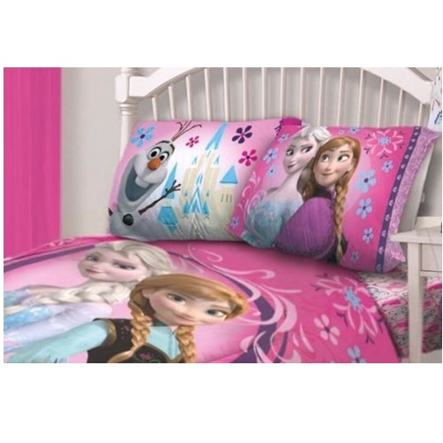 Frozen Comforter Set Twin Girls Bedding Floral Sheet Full Pink Bedroom Soft B