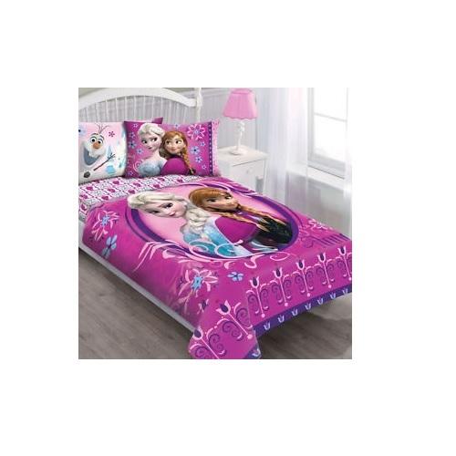 Frozen Comforter Set Twin Girls Bedding Floral Sheet Full