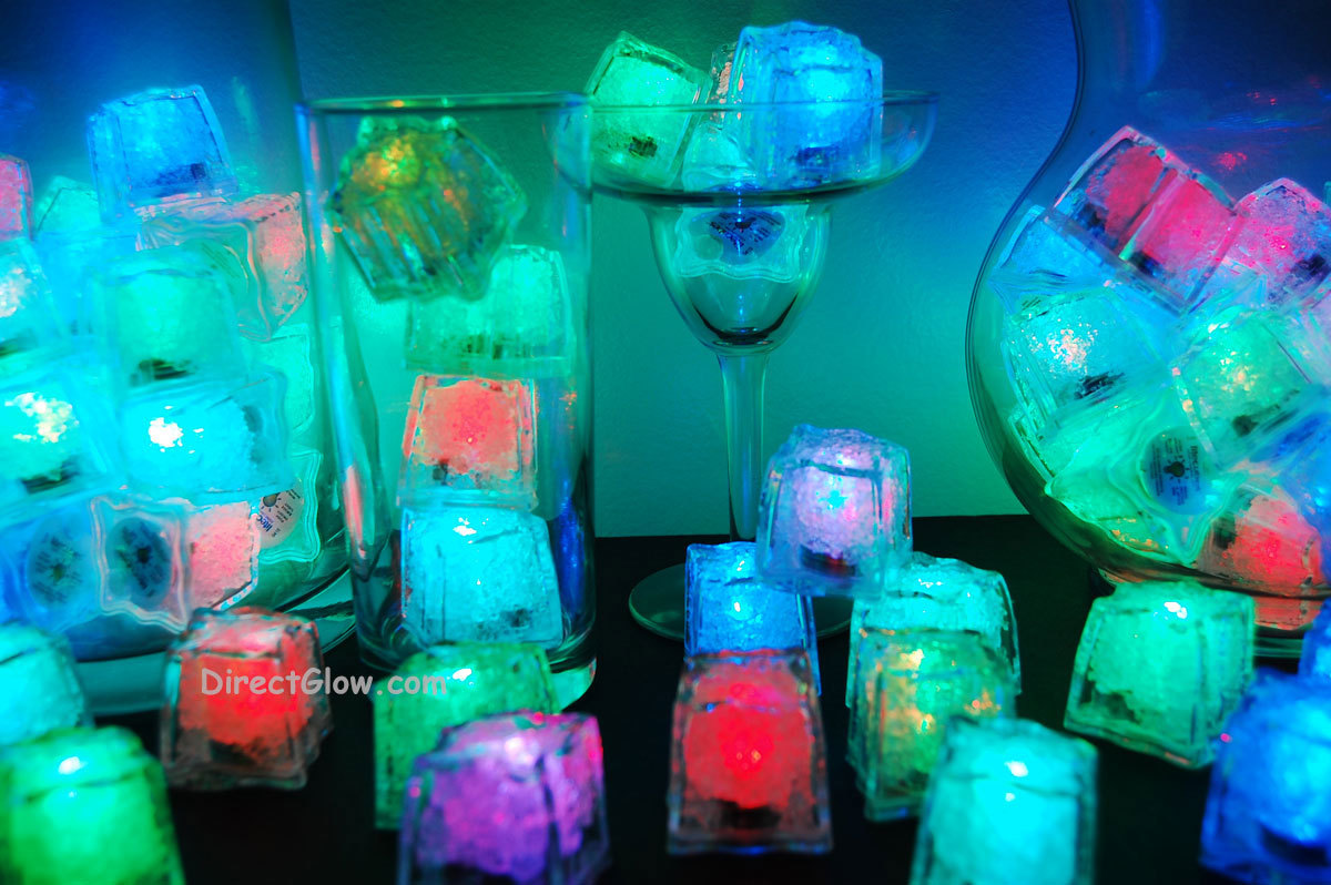 Primary image for Set of 96 Litecubes Brand RAINBOW Light up LED Ice Cubes