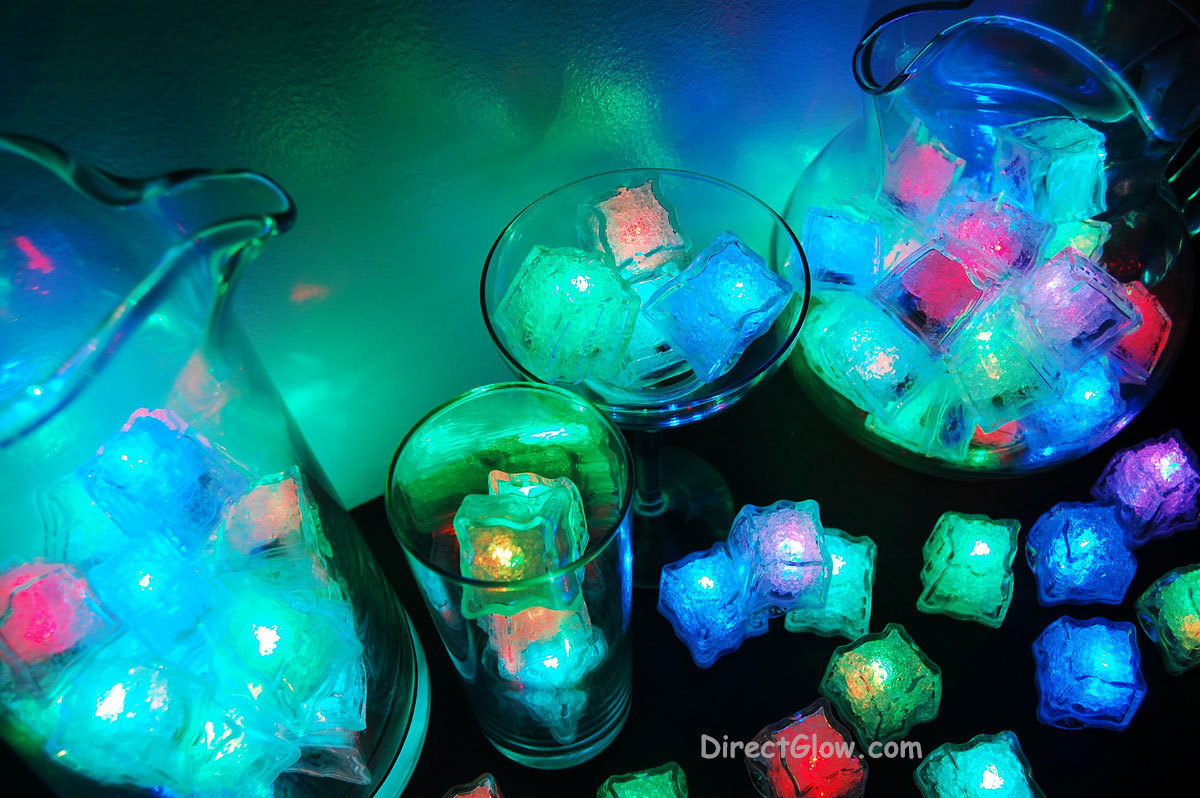 Set of 96 Litecubes Brand RAINBOW Light up LED Ice Cubes