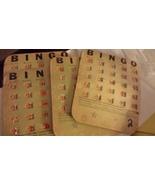 Vintage Bingo Cards with orange sliding markers - $10.00