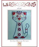 Star July Whiskerins cat cross stitch chart CM Designs - $7.20