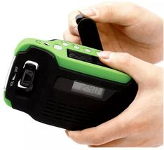 4-In-1 Solar Flashlight, Storm Station Charger Hand Crank Weather Radio ... - $85.99