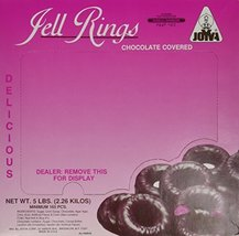Chocolate Covered Jelly Rings by Joyva 5lbs - $34.77