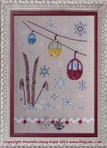 Ski Day cross stitch chart Filigram - $9.90