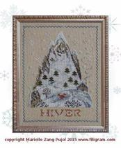 Winter Mountain cross stitch chart Filigram - $9.90