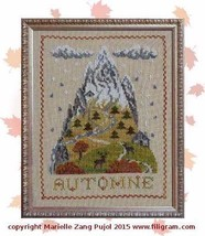 Autumn Mountain cross stitch chart Filigram - $9.90