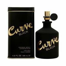 EA / Liz Claiborne Curva Negro Colonia Spray para Hombre 124ml/125ml Edc Nib - $30.43