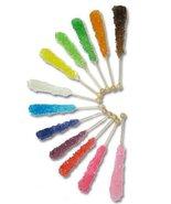 Rock Candy Sticks - Assorted (Wrapped)-10 sticks - $8.23