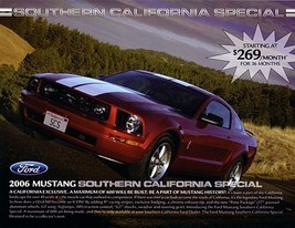 2006 Ford MUSTANG SOUTHERN CALIFORNIA SPECIAL sales brochure sheet 06 - $9.00