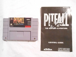 Super Nintendo Pitfall Game SNES W/ Instruction Booklet Tested - $9.45