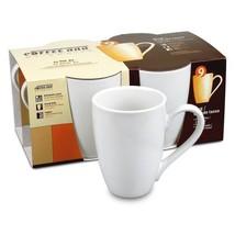 NEW White Porcelain Coffee Bar 10-ounce Mug Set... - $29.67