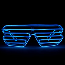 GloFX Luminescence Shutter Frames- White w Royal Blue Rave Prism LED Diffraction - $29.95