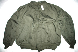 NWT US AIR FORCE GREEN NOMEX FLYER'S JACKET COL... - $123.75