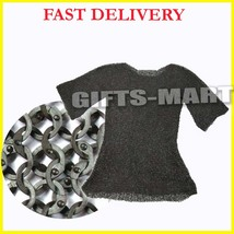 Stainless Steel FLAT RIVETED CHAINMAIL Shirt Rust Proof ChainMail HAUBER... - $499.00