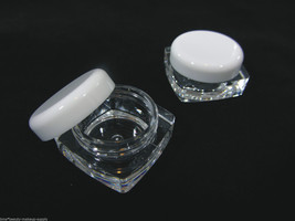 Cosmetic Jars 100 Square Containers Thick Wall Lip Balm Pot 10 Gram 10 Ml #3086 - $62.95