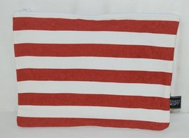 Midwest Gift CBK Three Piece Red White Canvas Zip Up Cosmetic Bag Set image 2