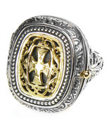 Gerochristo 2601 - Solid Gold & Silver Medieval Byzantine Poison Ring  /... - $540.00