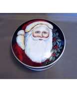 "Santa Round ""St Nick"" Ceramic Trinket Box by Mikasa - $11.98"