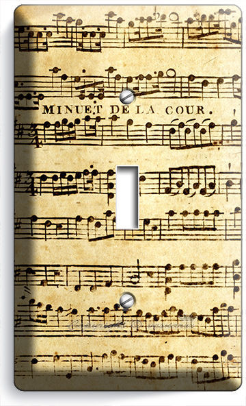 Primary image for SHEET MUSIC VINTAGE MUSICAL NOTE SINGLE LIGHT SWITCH WALL PLATE COVER STUDIO ART