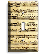SHEET MUSIC VINTAGE MUSICAL NOTE SINGLE LIGHT SWITCH WALL PLATE COVER ST... - $8.99