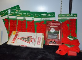 Mixed Lot of a dozen /12 Christmas ribbons & Decorations, all new, disco... - $7.92