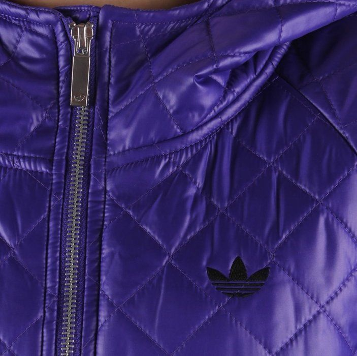 ADIDAS ORIGINALS WOMEN'S 'FEM PADDED PARKA' PURPLE COAT JACKET QUILTED RRP £150 image 2