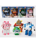 Robocar Poli Transformer Robot Set(4 pcs) POLI AMBER ROY HELLY 100% Auth... - $65.44