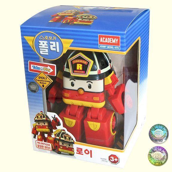 Robocar Poli Transformer Robot Set(4 pcs) POLI AMBER ROY HELLY 100% Authentic
