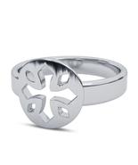 Engagement Men's Biker Cross Ring In Pure 925 Silver 14k White Gold Finish - $48.99
