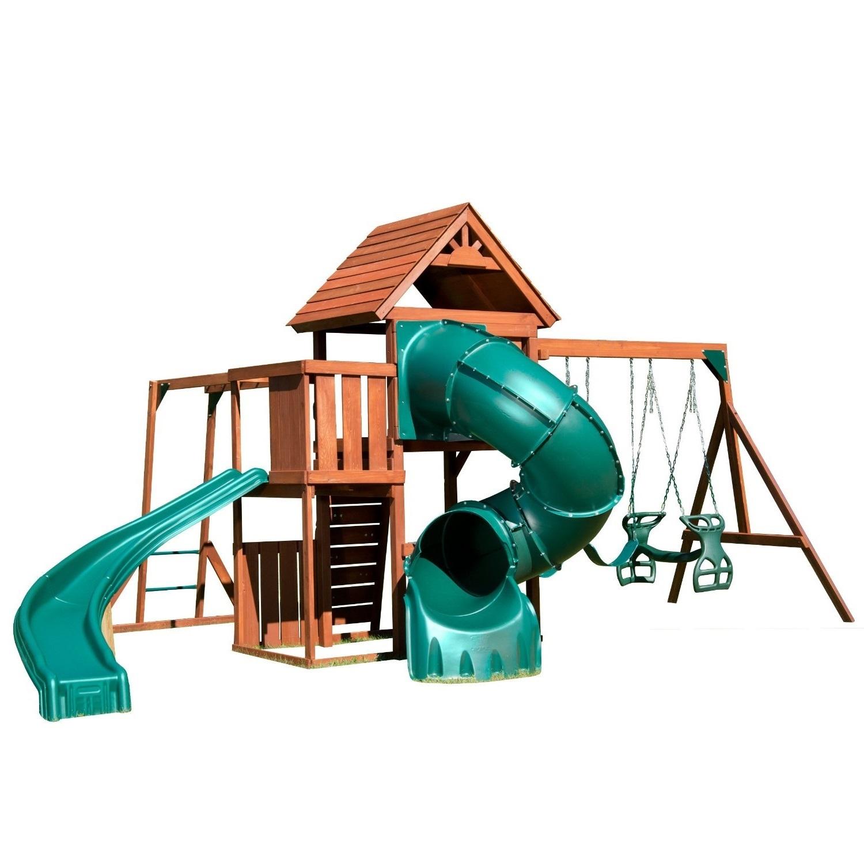 Backyard Playground Accessories : Playground Sets Equipment Backyard Slides Swing Wood Playset Outdoor