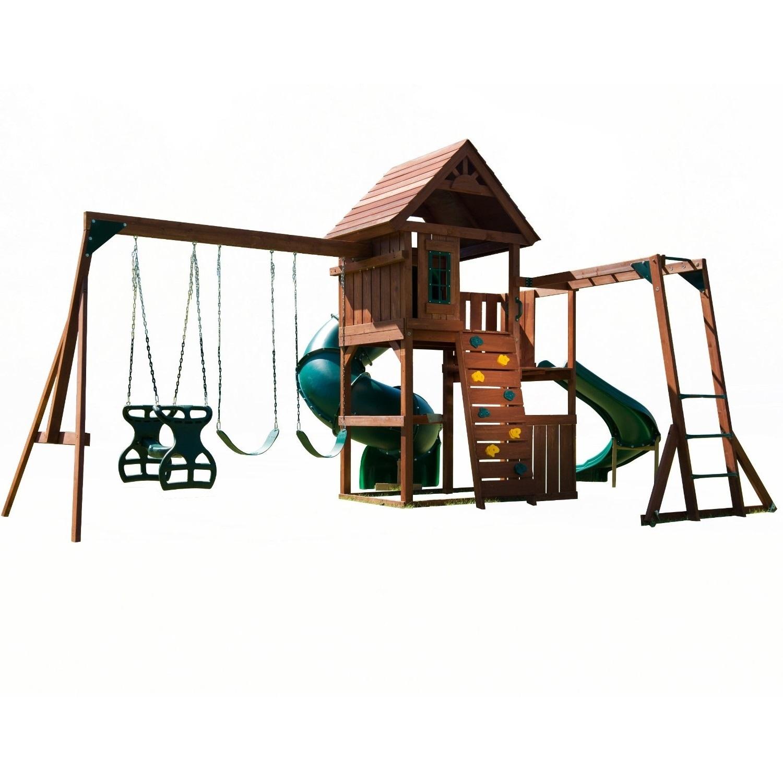 playground sets equipment backyard slides swing wood playset outdoor