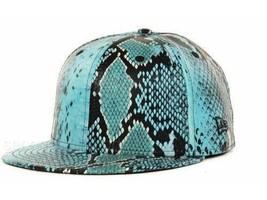 New Era Jeremy Scott Blue Faux Snakeskin Snakeskin Blue 59Fifty 5950 Cap... - $24.50