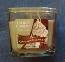 Yankee Candle Square 8.75 oz Jar Candle - Cinnamon Meringue - Rare - NEW... - $20.00