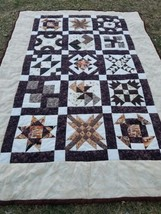"Twin COWBOY 68"" × 94"" QUILT Fly fishing, Bees, Mans Boys handmade  - $186.05"