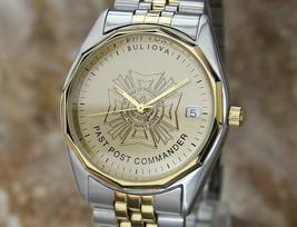 Bulova 1980s Past Post Commander 35MM Mens Swiss Luxury Quartz Watch LA123 - $584.10